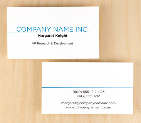 Custom Premium Business Cards - Above the Line