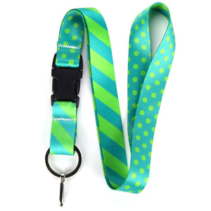 Buttonsmith Aqua Dots Lanyard - Made in USA