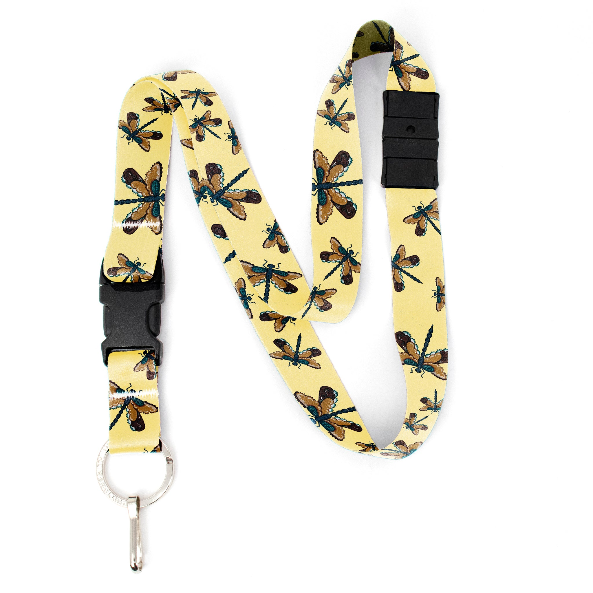 Buttonsmith Dragonflies Breakaway Lanyard - with Buckle and Flat Ring - Based on Rebecca McGovern Art - Officially Licensed - Made in the USA