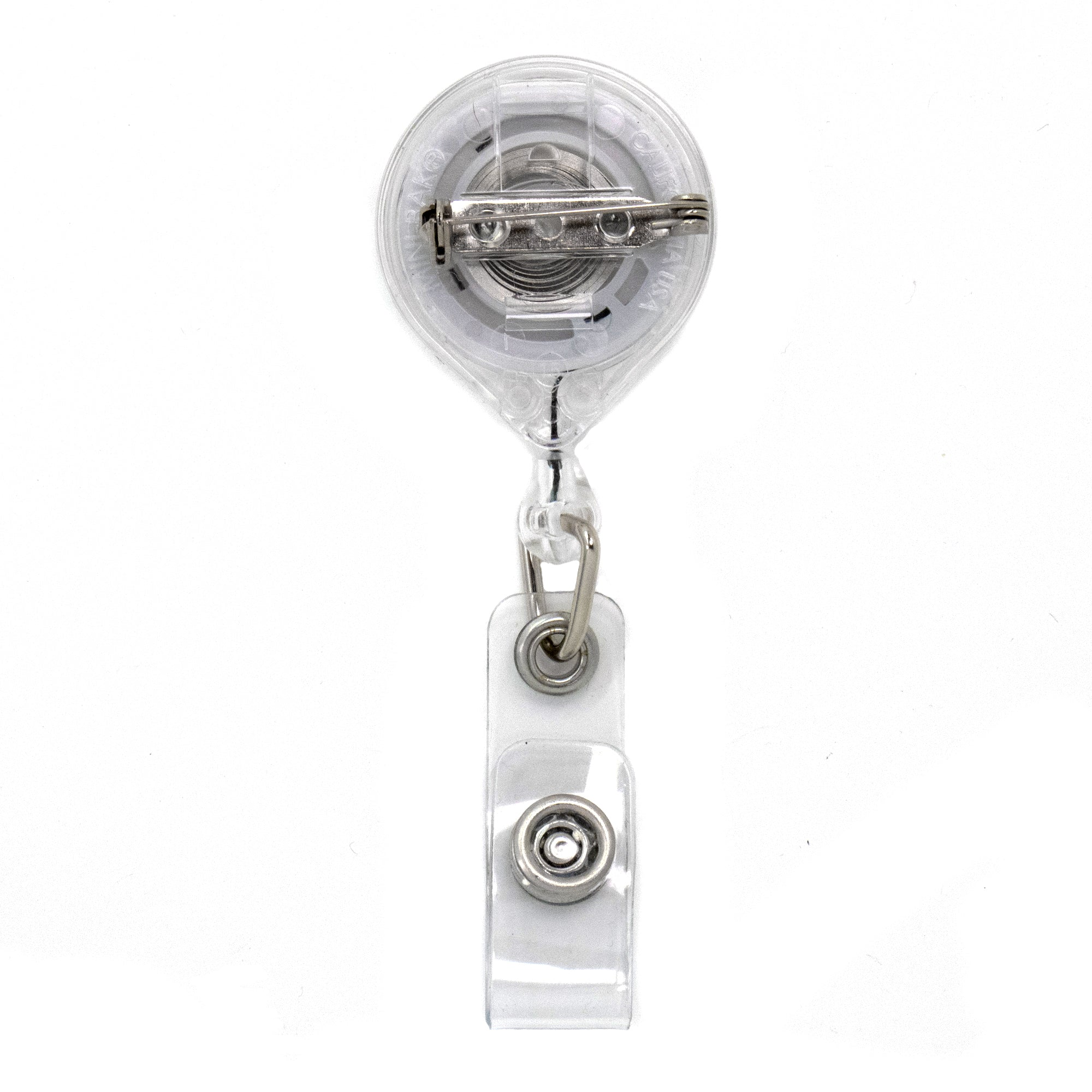 Buttonsmith Deluxe Retractable Badge Reel With Pin Back and Extra-Long 36 inch Standard Duty Cord - Made in the USA, 1 Year Warranty …