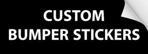 "Custom Union-Printed Full Color Bumper Stickers, 11""x3"""