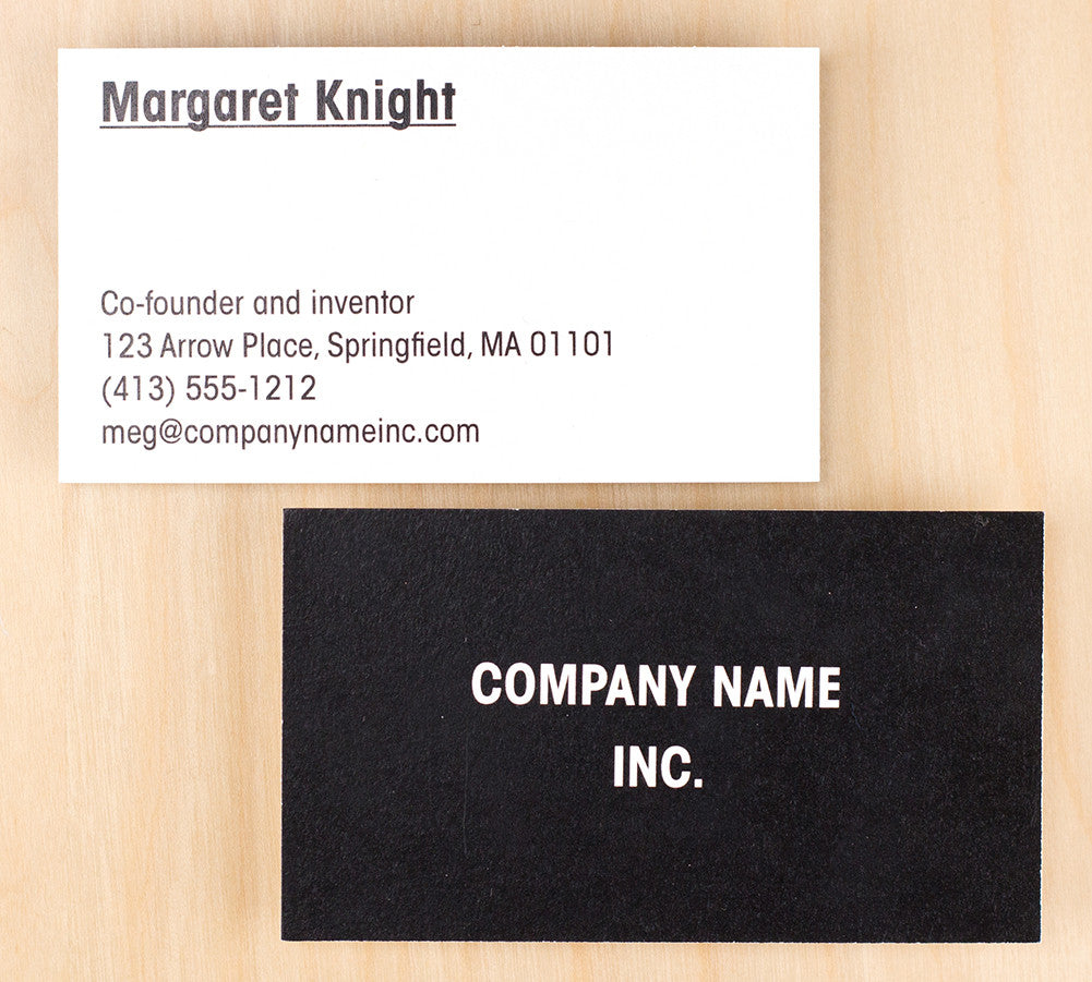Custom Premium Business Cards - Basic Black