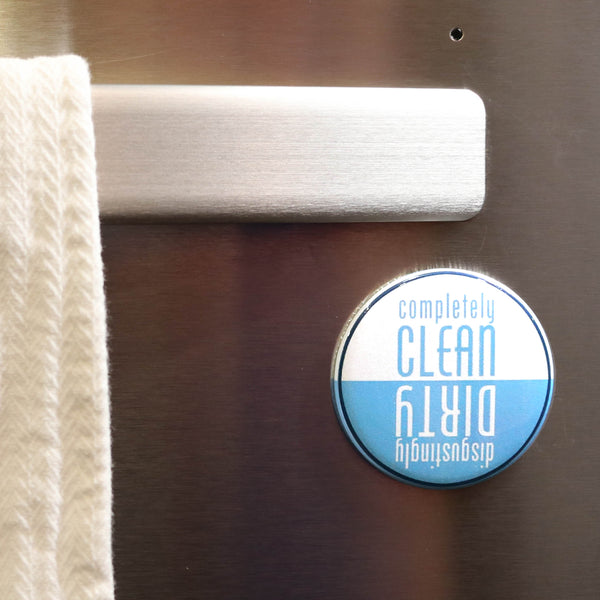 Buttonsmith Blue Clean-Dirty Dishwasher Magnet