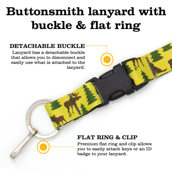 Buttonsmith Moosewoods Breakaway Lanyard - Made in USA