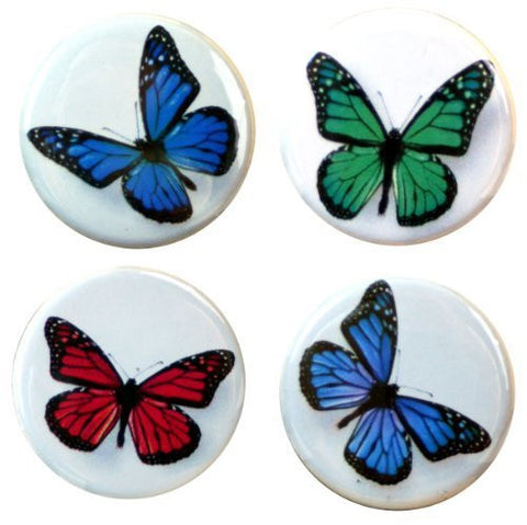 "Buttonsmith® 1.25"" Butterfly Refrigerator Magnets - Set of 4"