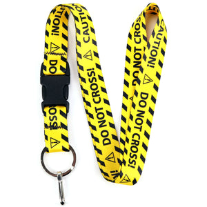 Buttonsmith Caution Lanyard - Made in USA