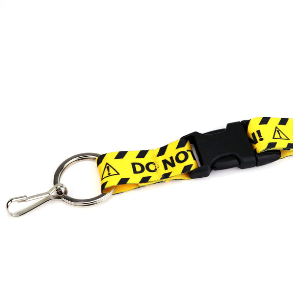 Buttonsmith Caution Custom Lanyard - Made in USA
