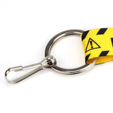Buttonsmith Caution Custom Lanyard