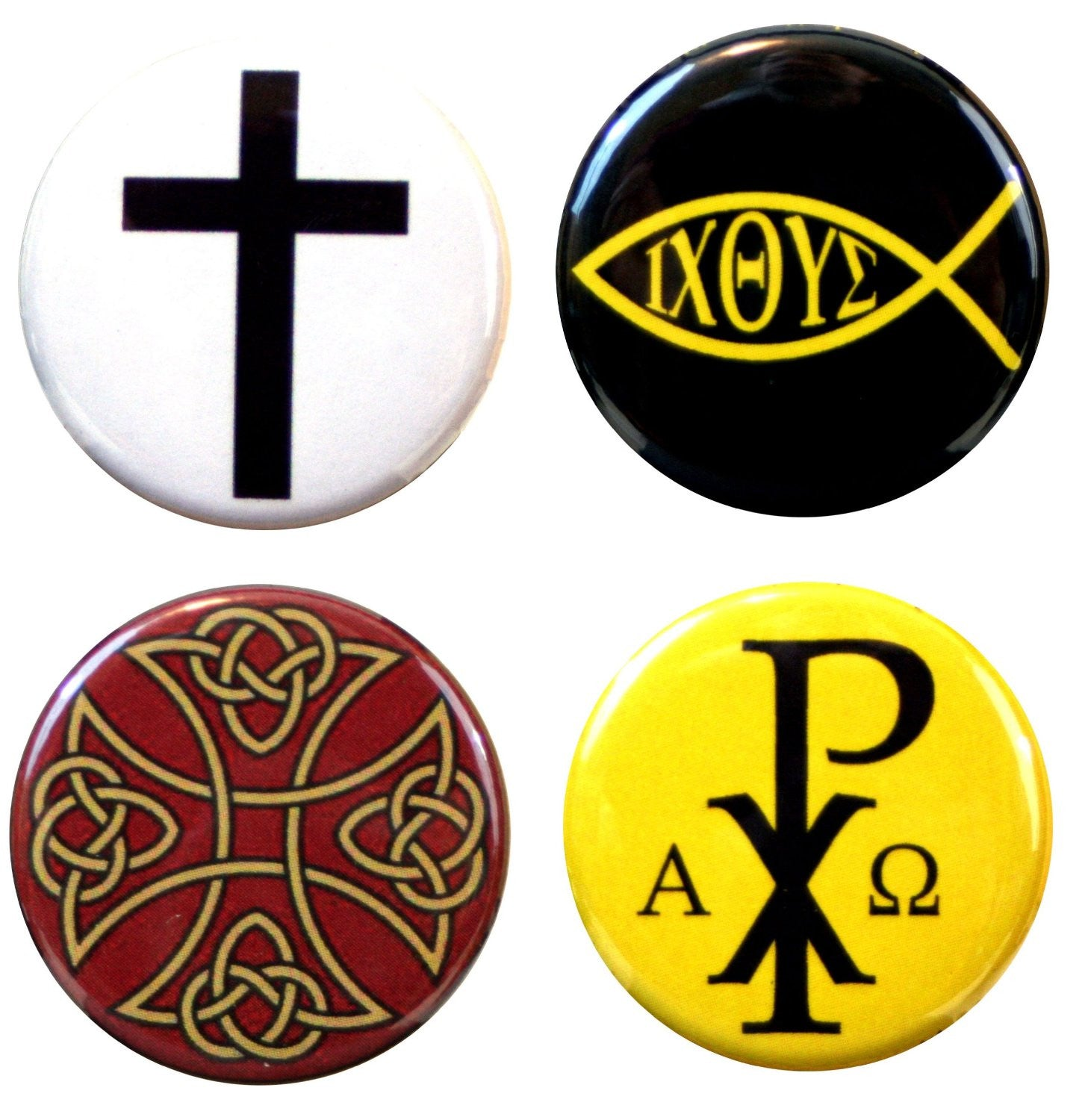 "Buttonsmith® 1.25"" Christian Refrigerator Magnets - Set of 4"