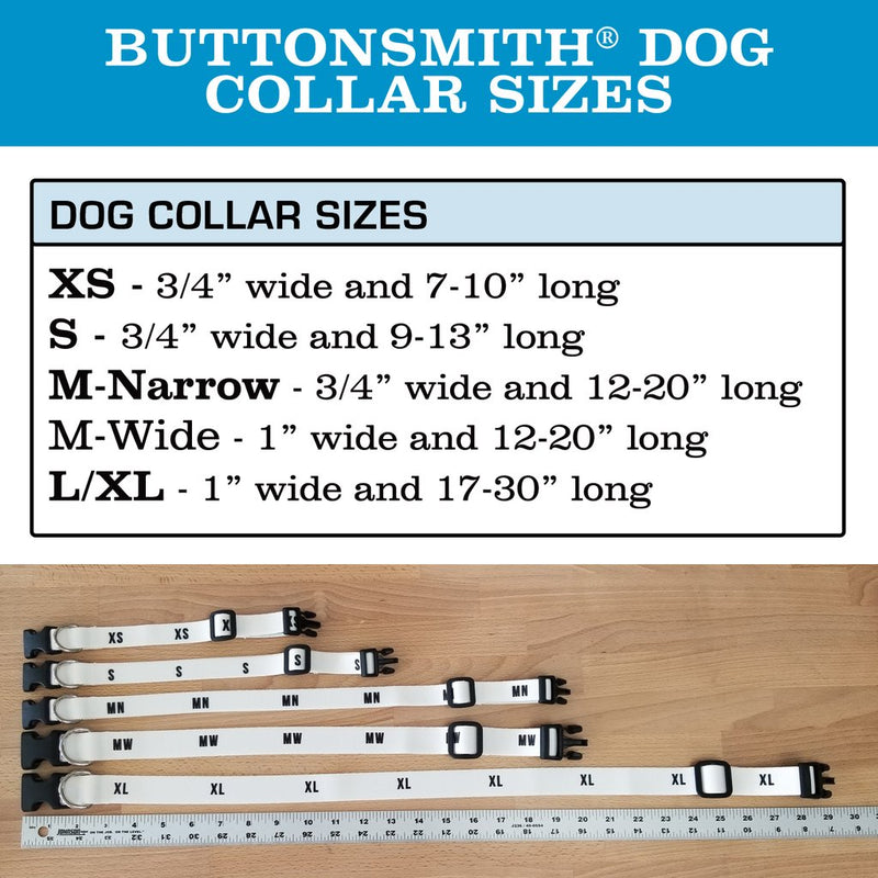 ButtonsmithButtonsmith Moroccan Tiles MultiFlowers Dog Collar - Made in USA Dog Collar - Made in the USA - Buttonsmith Inc.