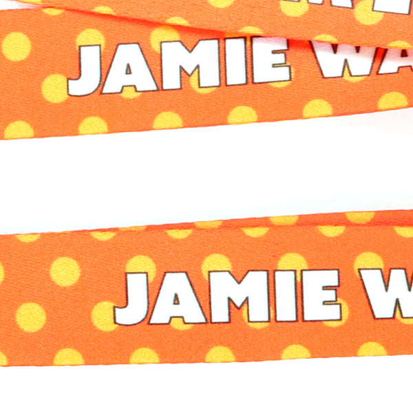 Buttonsmith Orange Dots Custom Lanyard - Made in USA