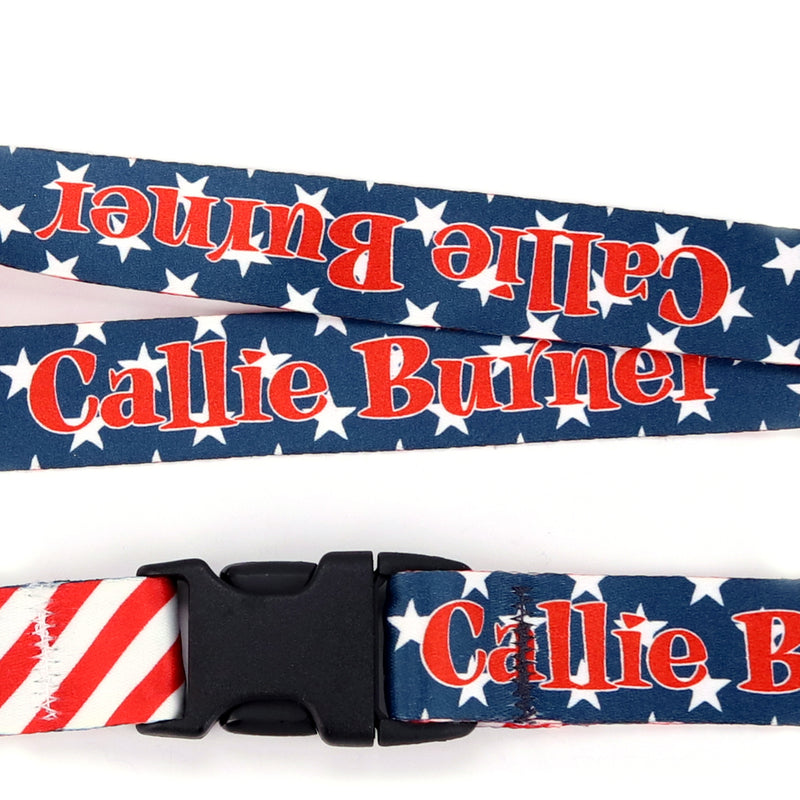 Buttonsmith Stars & Stripes Custom Lanyard - Made in USA - Buttonsmith Inc.