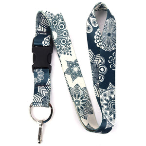 Buttonsmith Denim Lace Lanyard - Made in USA