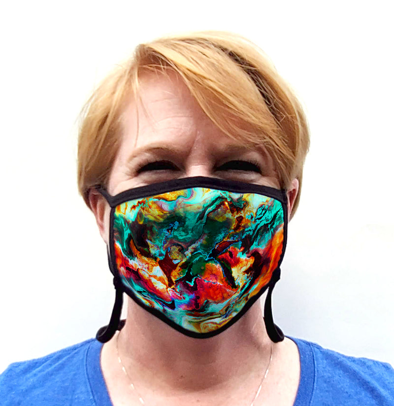 Buttonsmith Paint Adult Adjustable Face Mask with Filter Pocket - Made in the USA - Buttonsmith Inc.