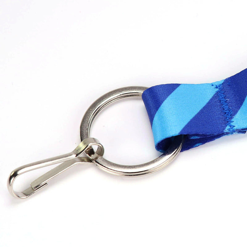 Buttonsmith Blue Dots Custom Lanyard - Made in USA - Buttonsmith Inc.