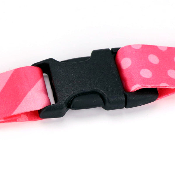 Buttonsmith Pink Dots Lanyard - Made in USA