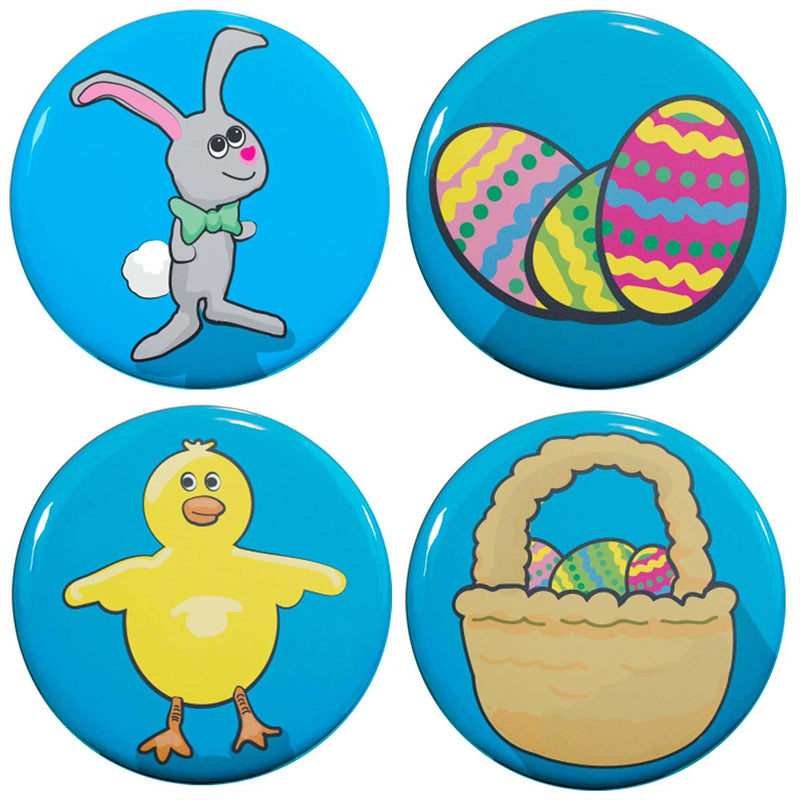"Buttonsmith® 1.25"" Easter Refrigerator Magnets - Set of 4 - Buttonsmith Inc."