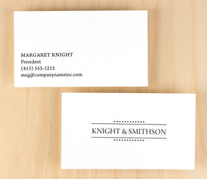 Custom Premium Business Cards - Elegant