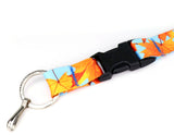 Buttonsmith Fall Leaves Breakaway Lanyard - Made in USA
