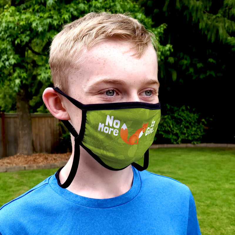 Buttonsmith No More Fox Adult XL Adjustable Face Mask with Filter Pocket - Made in the USA - Buttonsmith Inc.