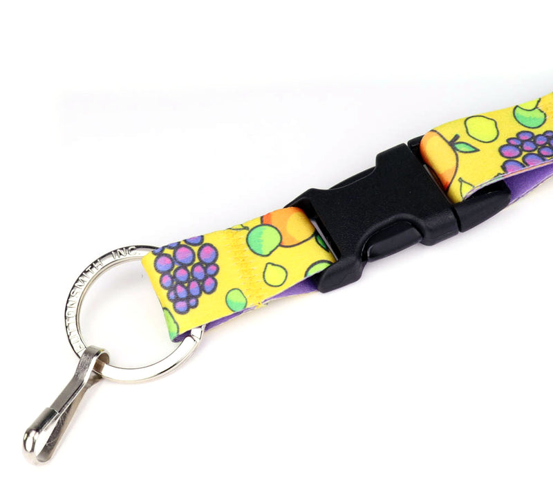 Buttonsmith Fruit Frenzy Custom Lanyard Made in USA - Buttonsmith Inc.