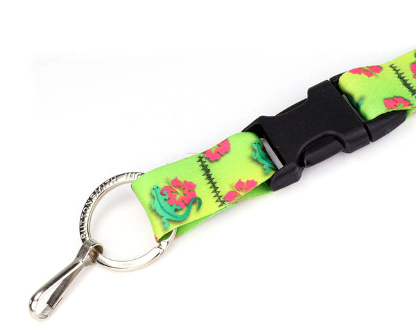 Buttonsmith Geckos Lanyard - Made in USA