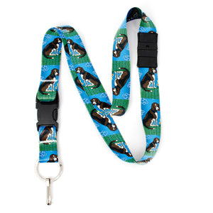 Buttonsmith Dog Breakaway Lanyard - with Buckle and Flat Ring - Based on Rebecca McGovern Art - Officially Licensed - Made in the USA