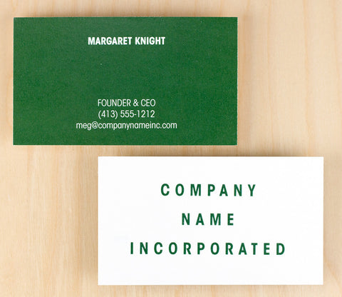 Custom Premium Business Cards - Green