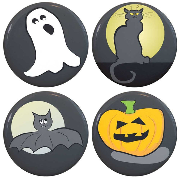 "Buttonsmith® 1.25"" Halloween Refrigerator Magnets - Set of 4"