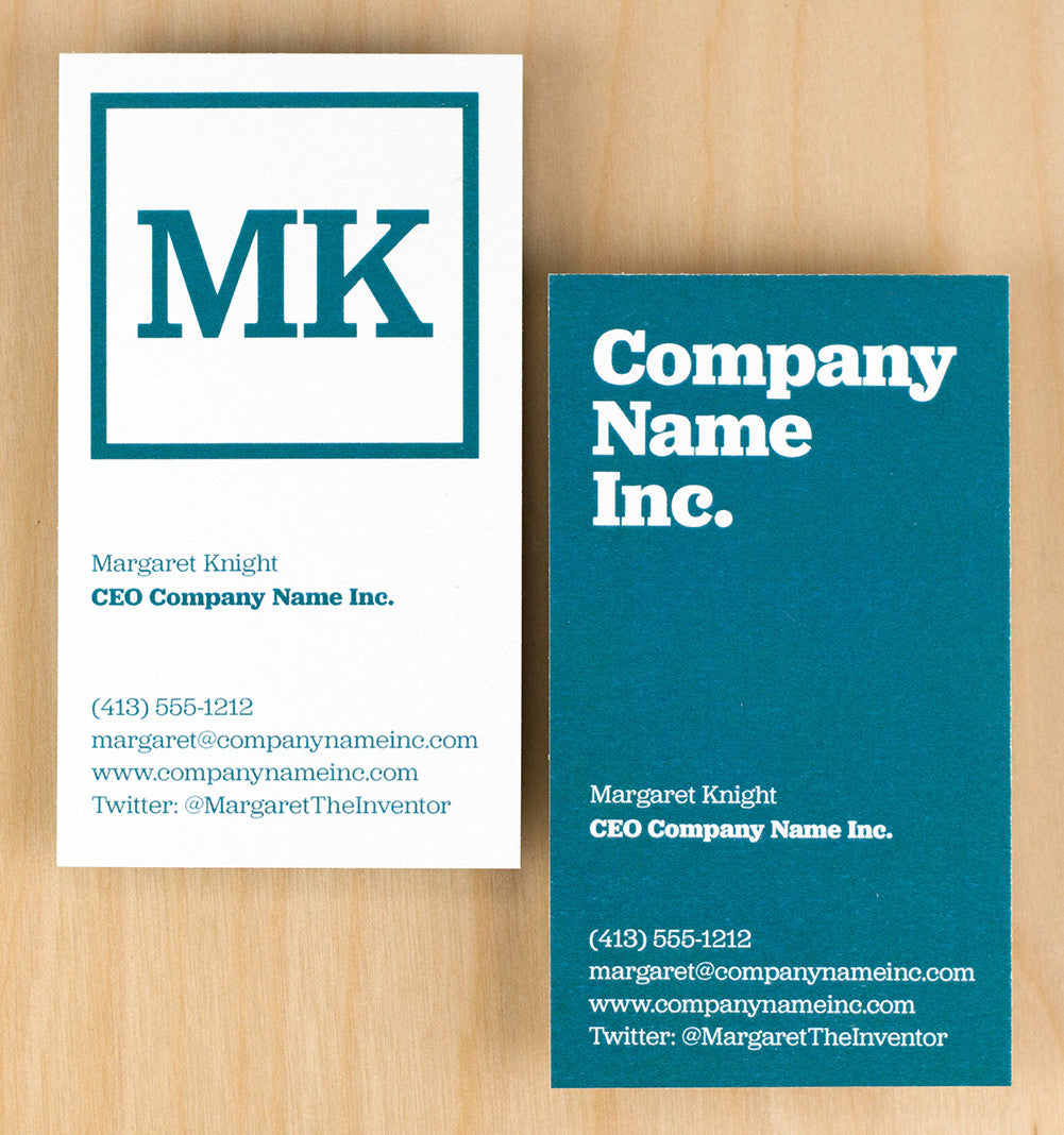 Custom Premium Business Cards - Hip to be Square