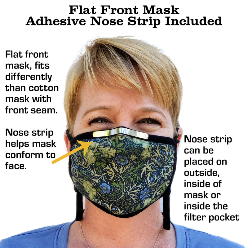 Buttonsmith Resin Adult Adjustable Face Mask with Filter Pocket - Made in the USA - Buttonsmith Inc.