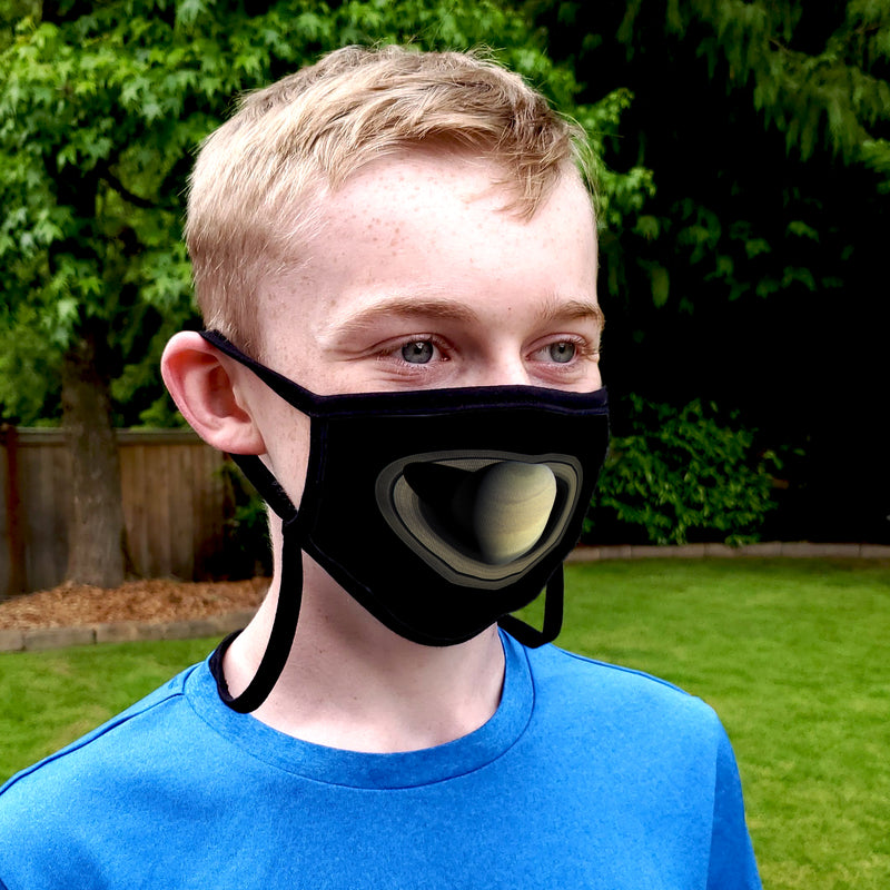 Buttonsmith Saturn Child Face Mask with Filter Pocket - Made in the USA - Buttonsmith Inc.