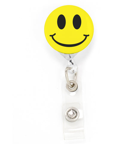 Buttonsmith Smiley Tinker Reel Retractable Badge Reel - Made in the USA