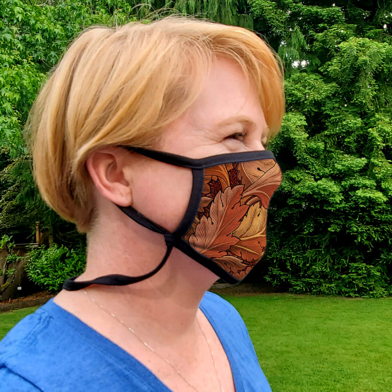 Buttonsmith William Morris Acanthus Youth Adjustable Face Mask with Filter Pocket - Made in the USA - Buttonsmith Inc.