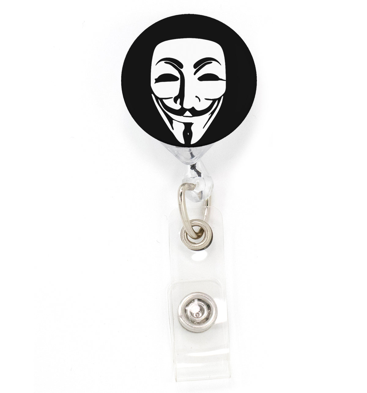 Buttonsmith Guy Fawkes Tinker Reel Retractable Badge Reel - Made in the USA