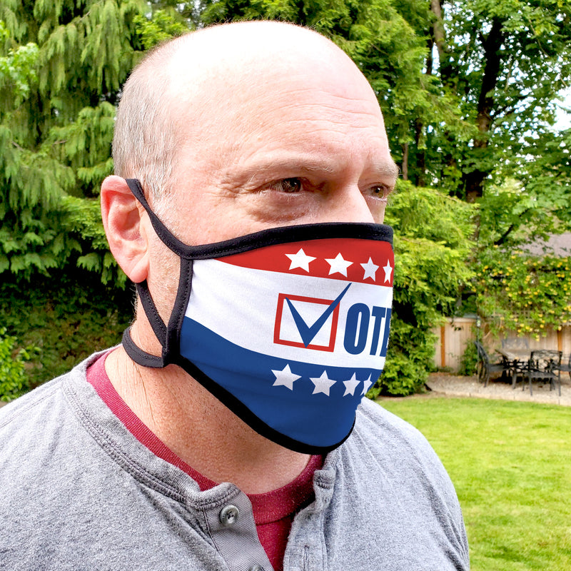 Buttonsmith Vote Adult Adjustable Face Mask with Filter Pocket - Made in the USA - Buttonsmith Inc.