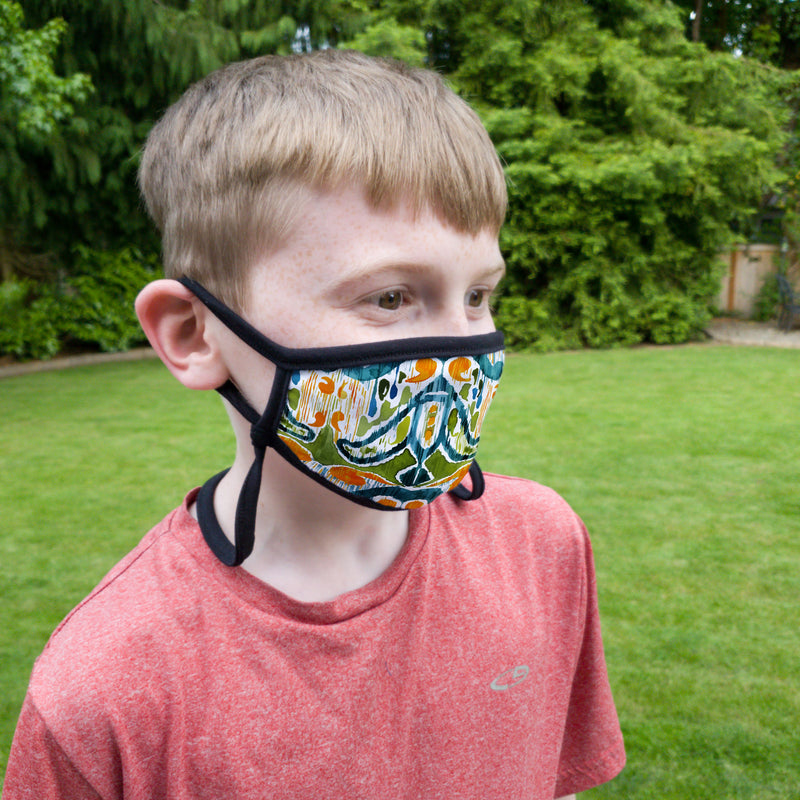 Buttonsmith Sugarsnap Youth Adjustable Face Mask with Filter Pocket - Made in the USA - Buttonsmith Inc.