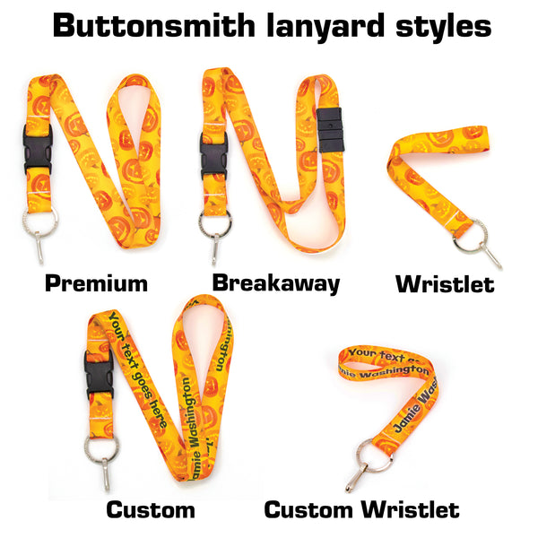 Buttonsmith Jack-O-Lantern Halloween Breakaway Lanyard - Made in USA