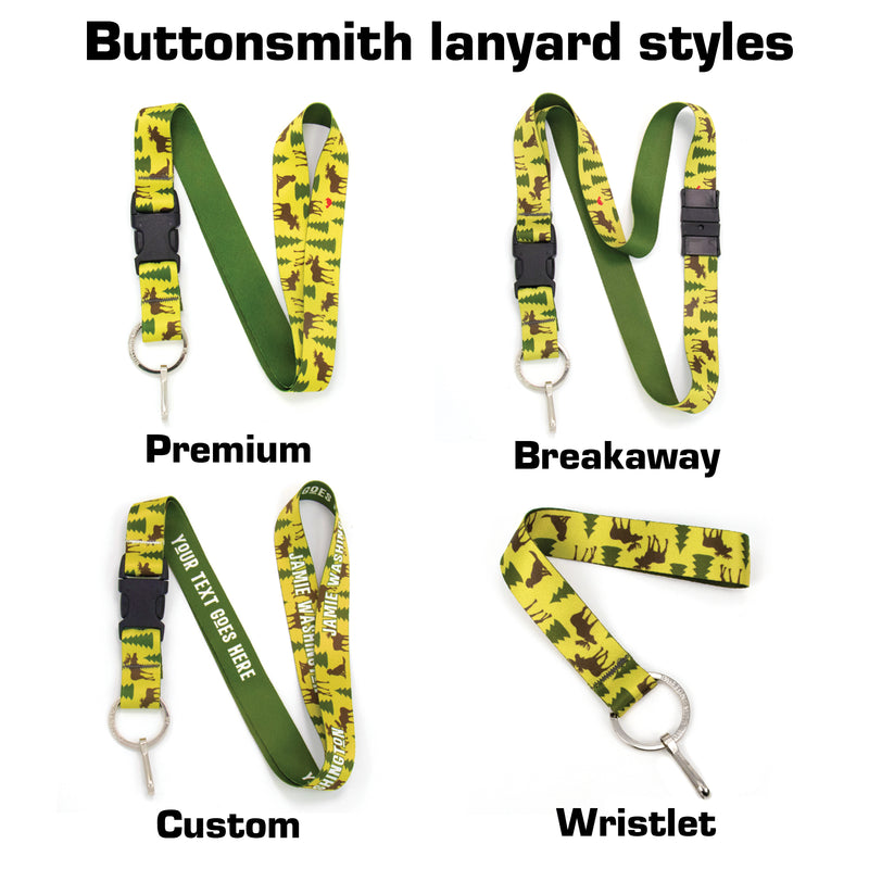 Buttonsmith Moose Woods Custom Lanyard - Made in USA - Buttonsmith Inc.