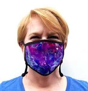 Buttonsmith Resin Adult Adjustable Face Mask with Filter Pocket - Made in the USA