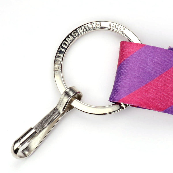 Buttonsmith Magenta Dots Custom Lanyard - Made in USA