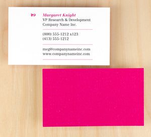 Custom Premium Business Cards - Magenta