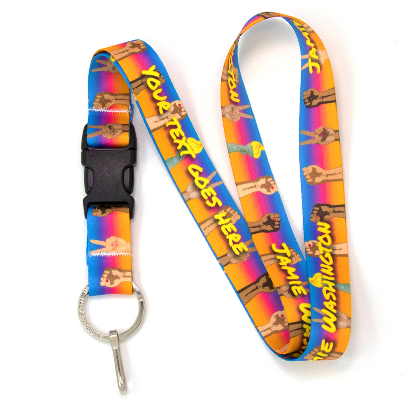 Buttonsmith Solidarity Custom Lanyard Made in USA - Buttonsmith Inc.
