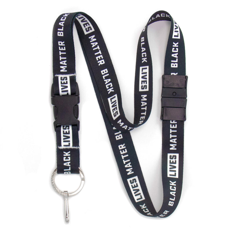 Buttonsmith Black Lives Matter Breakaway Lanyard Made in USA - Buttonsmith Inc.