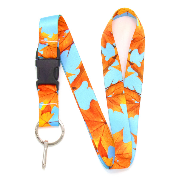 Buttonsmith Fall Leaves Lanyard - Made in USA