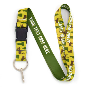 Buttonsmith Moose Woods Custom Lanyard - Made in USA