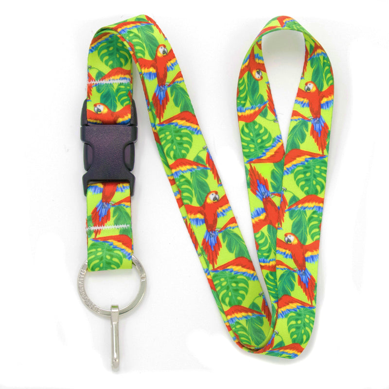 Buttonsmith Scarlet Macaw Lanyard Made in USA - Buttonsmith Inc.