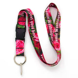 Buttonsmith Waldmueller Roses Custom Lanyard Made in USA