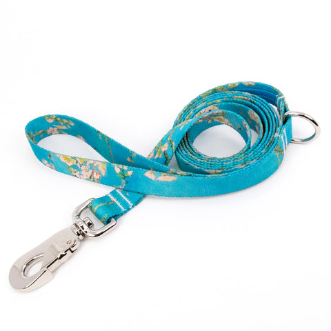 Buttonsmith Van Gogh Almond Blossoms Dog Leash Fadeproof Made in USA