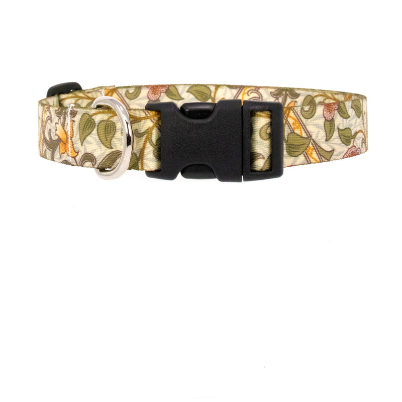 Buttonsmith William Morris Daffodil Art Dog Collar - Made in USA - Buttonsmith Inc.